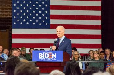 President Joe Biden campaigning in Reno Nevada.