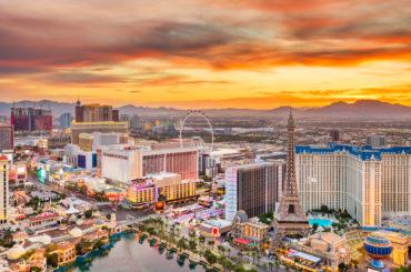 A wide shot of Las Vegas